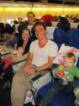 British Airways flight to Hong Kong