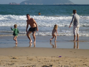 Shek O Beach at Christmas