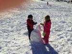Friends over a snowman2