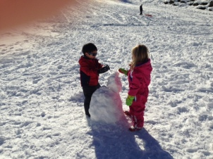 Friends over a snowman 2